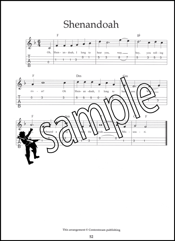 Ukulele Song Book in Notation and Tablature Chord & Melody TAB Music ...