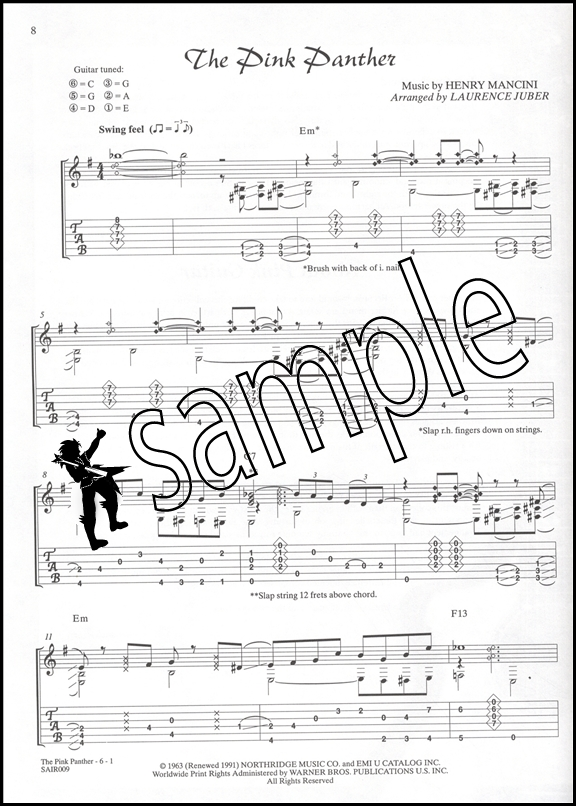 Henry Mancini Pink Guitar Tab Bookcd Hamcor