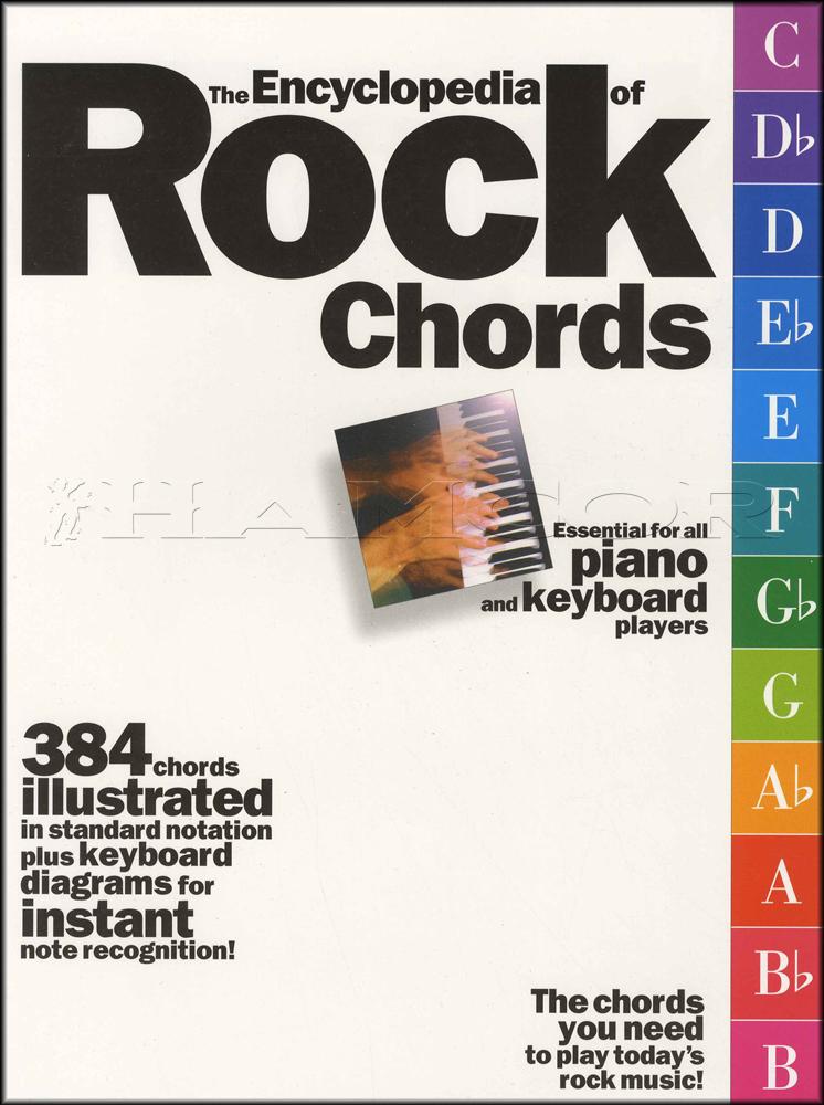 The Encyclopedia Of Rock Chords Piano Keyboard Sheet Music Book 384 ...