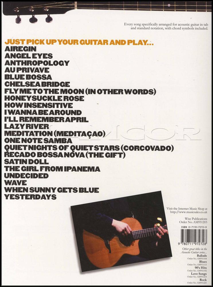 Jazz For Acoustic Guitar 22 Standards Hamcor