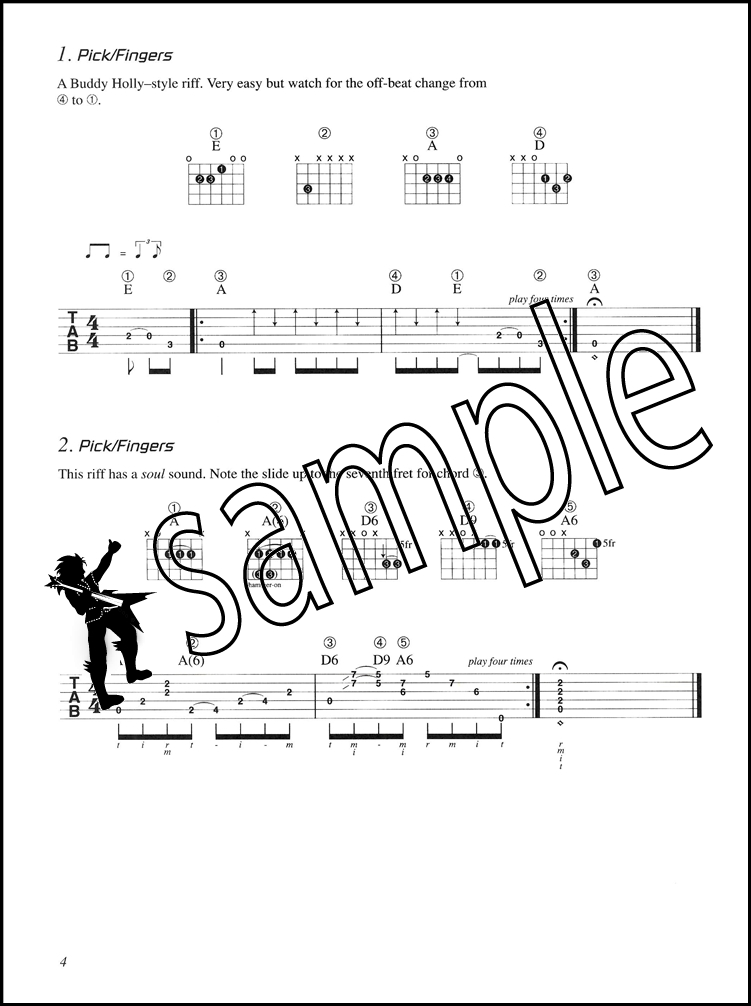 Sentinel Start Playing Rock Guitar Licks TAB Music Book With CD By Johnny Norris