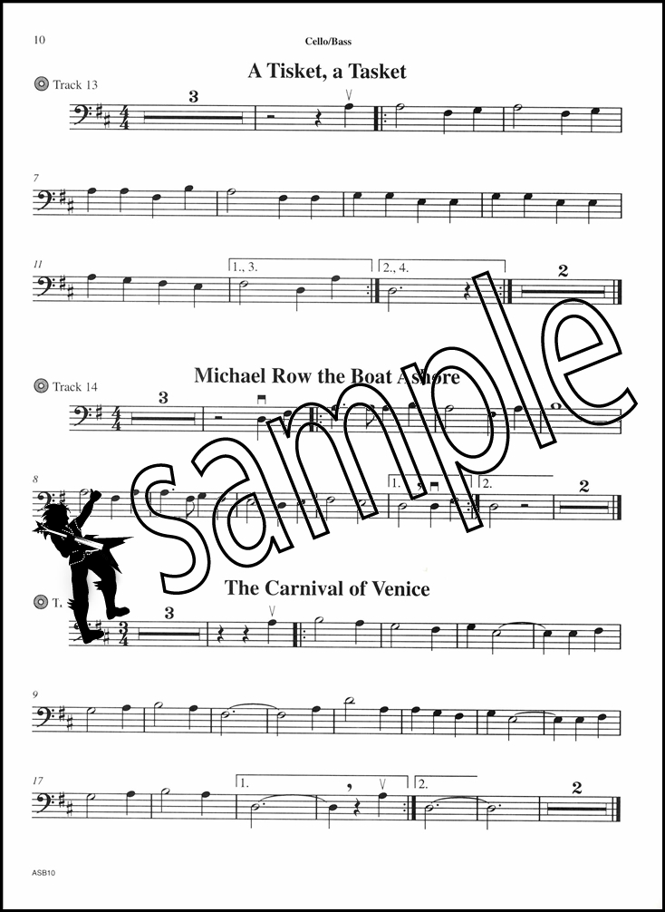 All Music Chords bass sheet music : Fun Tunes for Strings for Cello or Bass Sheet Music Book with CD ...