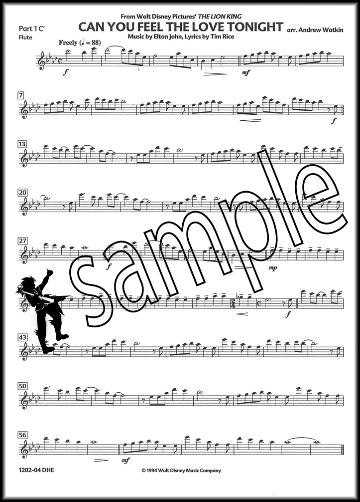 All Music Chords can you feel the love tonight sheet music : Can You Feel The Love Tonight for Wind Quintet Score & Parts Sheet ...