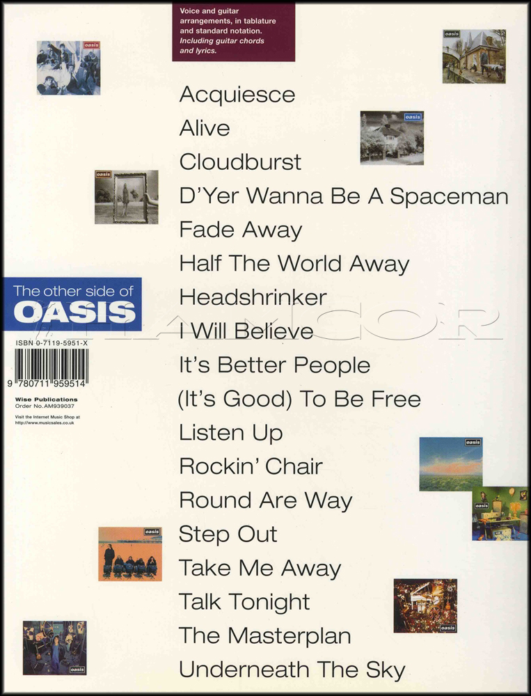 Lyric oasis lyrics masterplan : The Other Side of Oasis Guitar | Hamcor