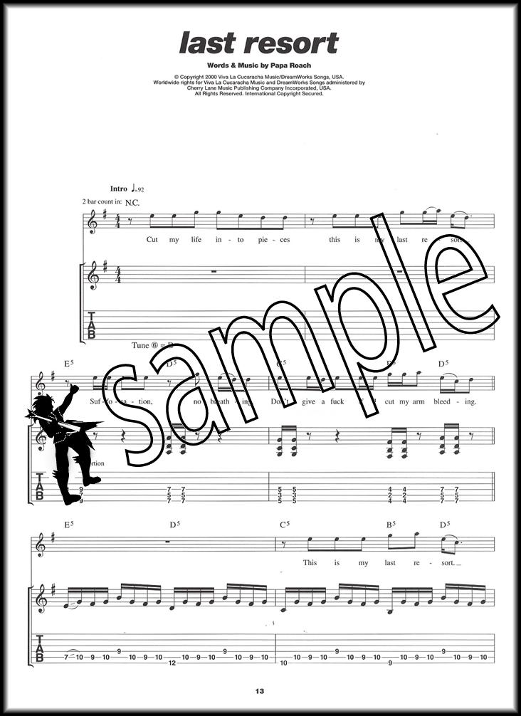Play Guitar With Nu Metal TAB Sheet Music Book with CD Korn Papa ...