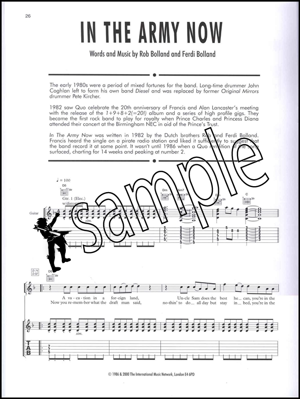 status quo guitar legends tab pdf