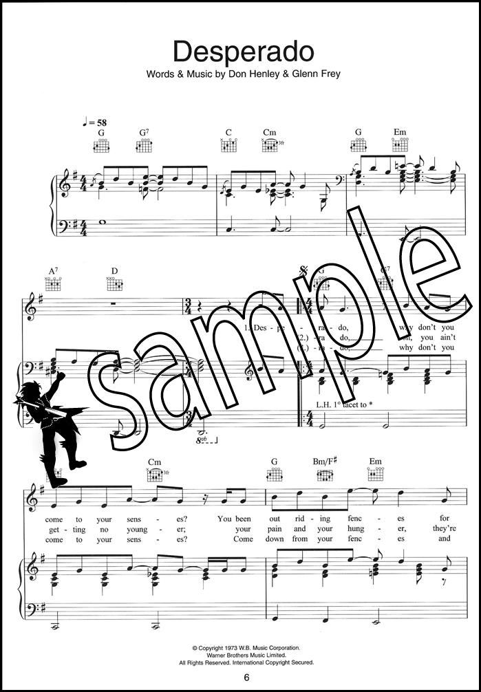 All Music Chords desperado sheet music : Journey South Piano Vocal Guitar Sheet Music Book Desperado All Of ...