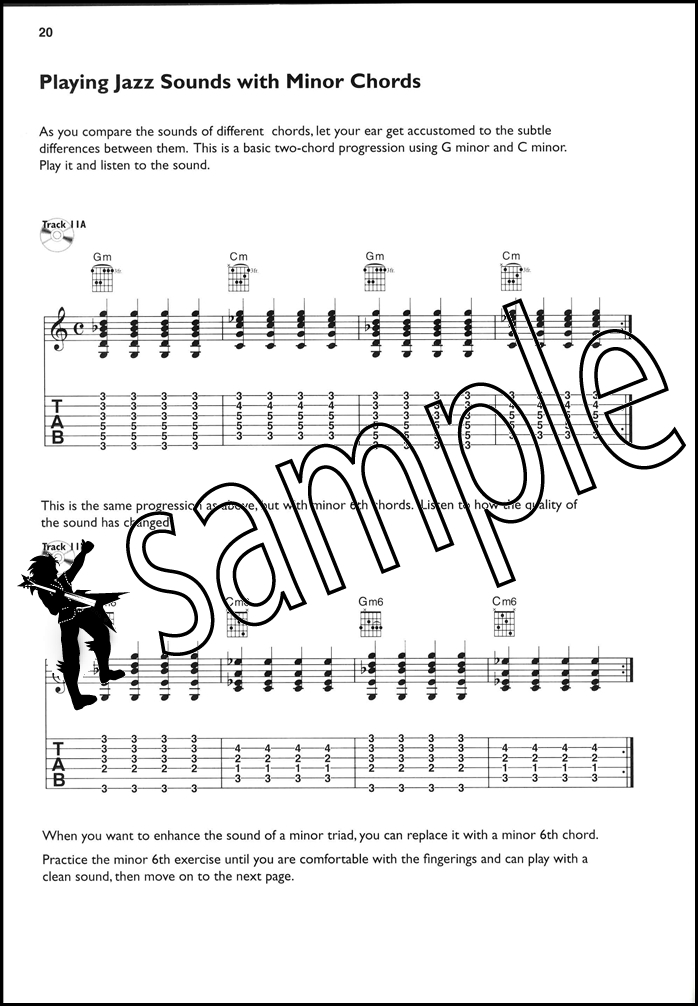 Jazz Sounds For Guitar Tab Music Book With Cd Major Minor Dominant