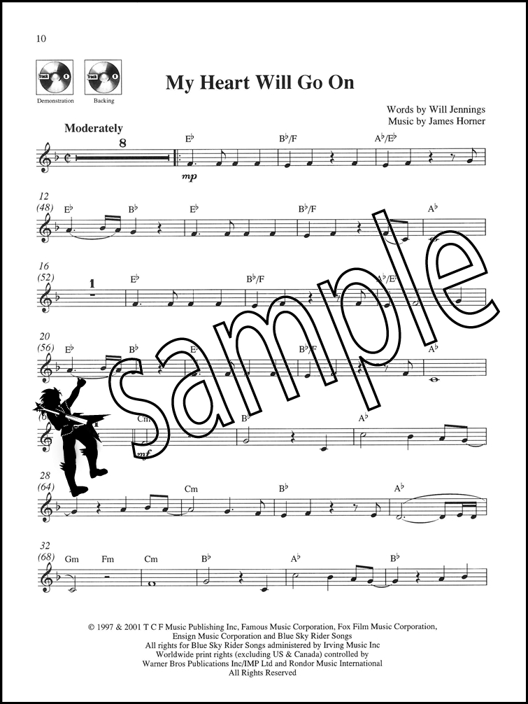 All Music Chords my heart will go on sheet music : Take The Lead Clarinet Ballads Sheet Music Book with CD My Heart ...