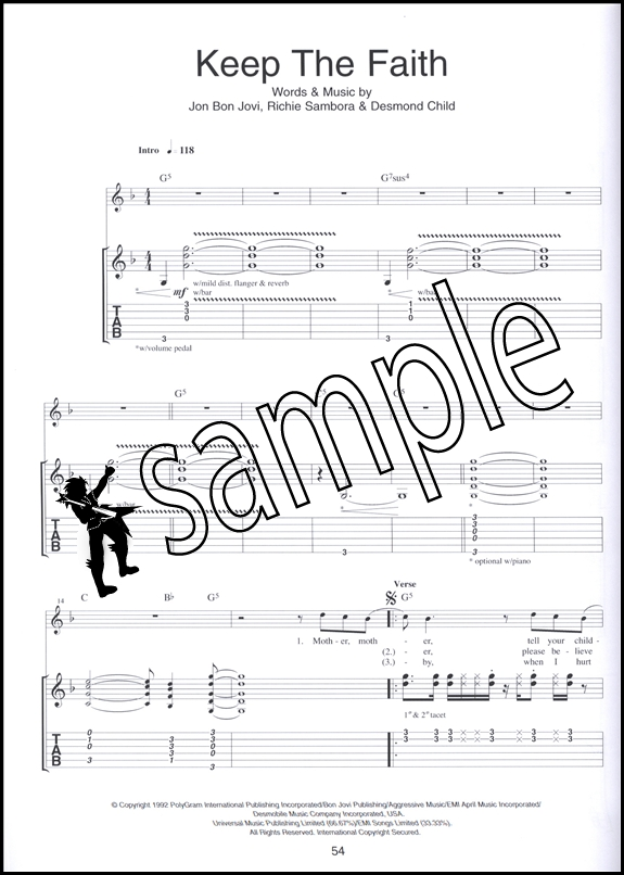 The Best of Bon Jovi Guitar TAB | Hamcor