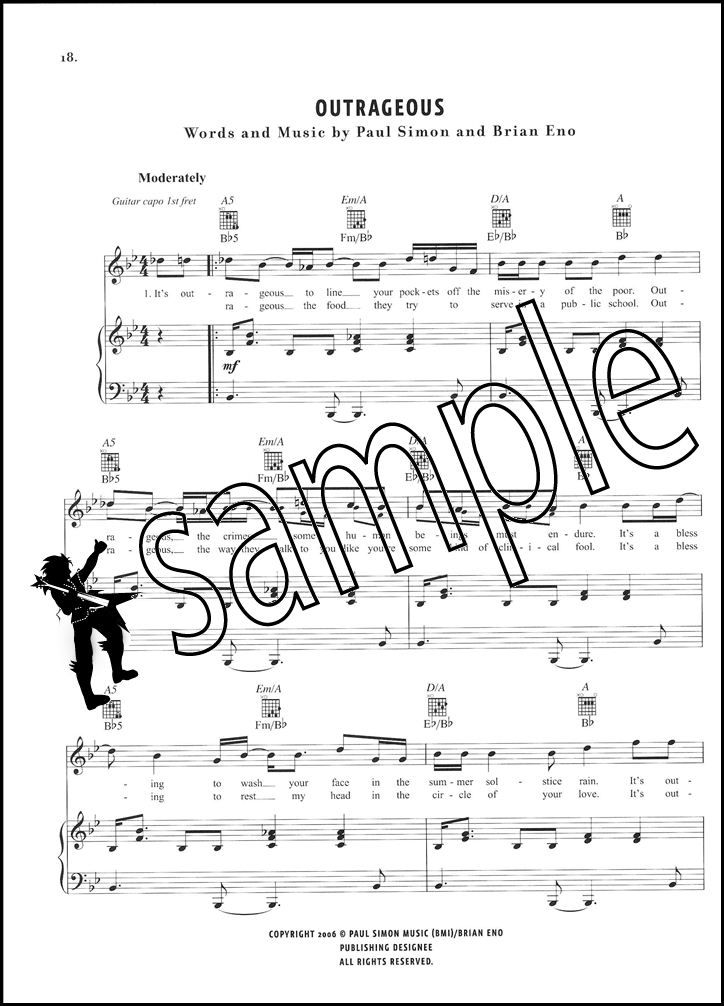 Paul Simon Surprise Piano Vocal Guitar Sheet Music Book Beautiful ...