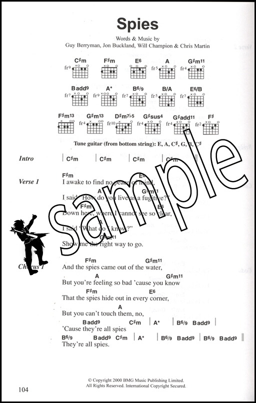 Coldplay Complete Chord Songbook Hamcor