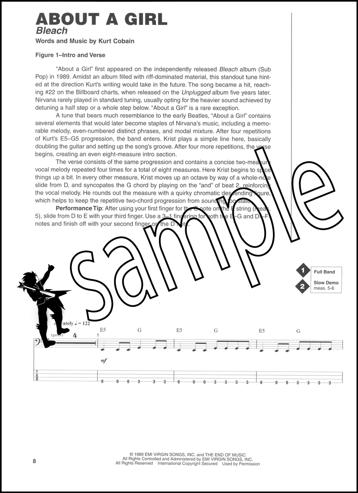 The Best Of Nirvana Bass Signature Licks Bookcd Hamcor