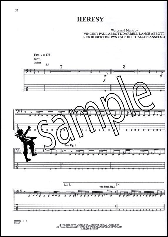 Pantera Bass Anthology Series | Hamcor