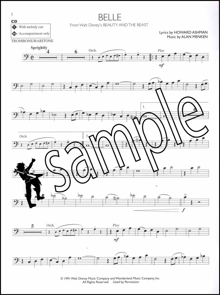 disney movie hits trombone instrumental play along sheet music book cd 73999631982 ebay. Black Bedroom Furniture Sets. Home Design Ideas