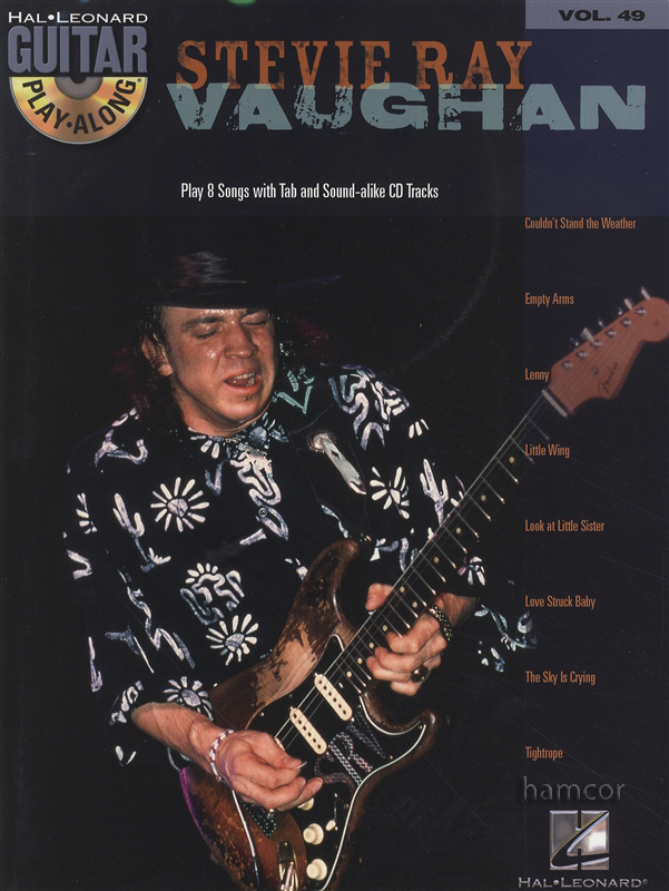 Sentinel Stevie Ray Vaughan Guitar Play Along Vol 49 TAB Music Book Backing Tracks CD