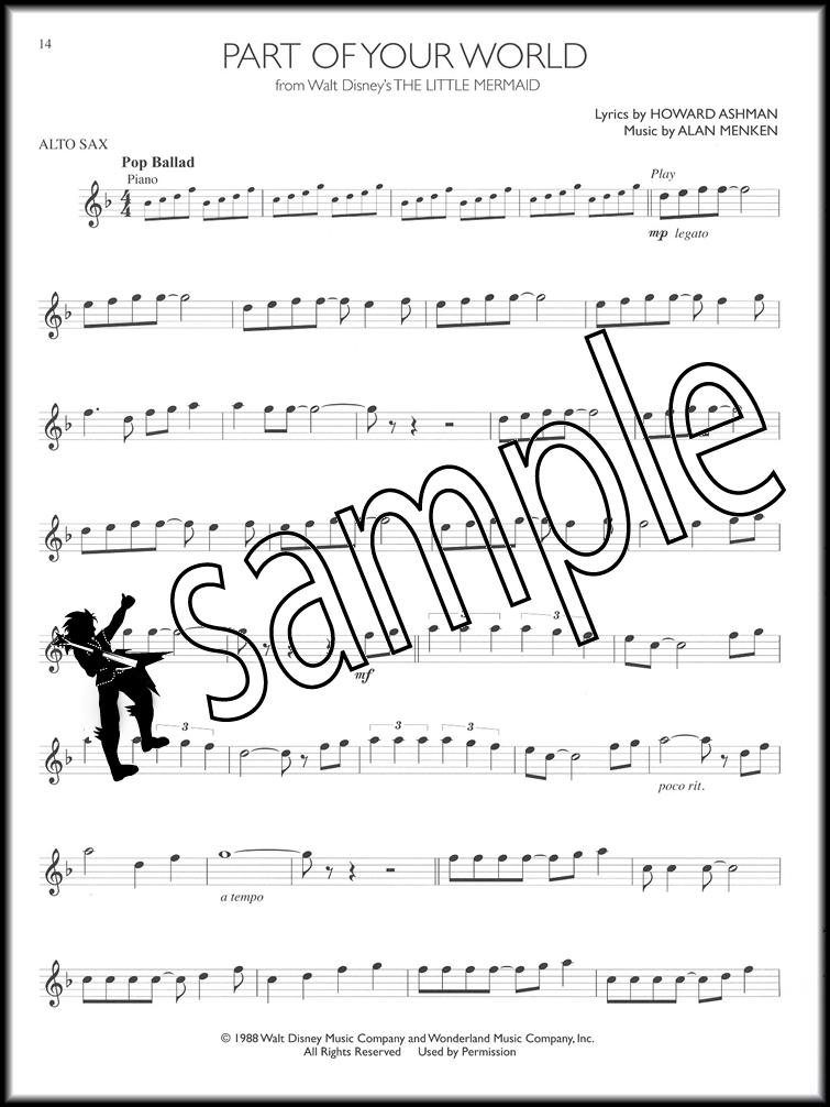All Music Chords saxophone solo sheet music : Disney Solos Alto Sax Saxophone Instrumental Play-Along Sheet ...