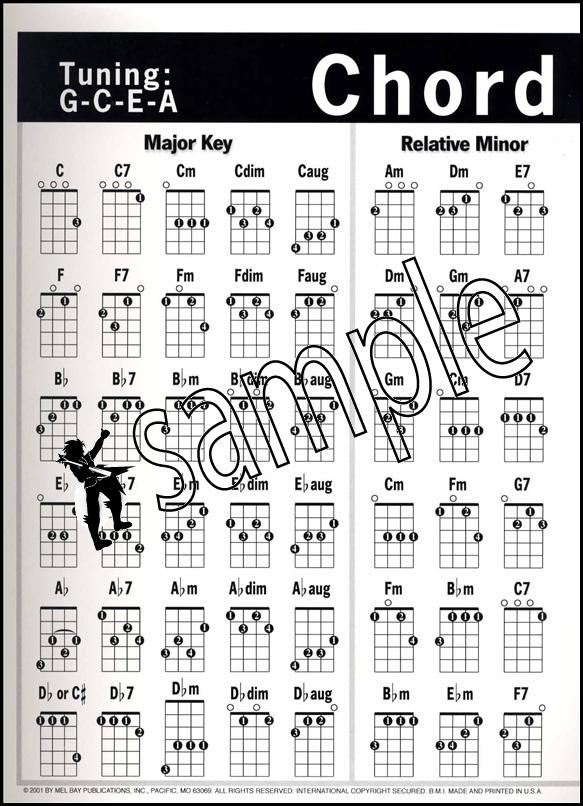 Sentinel Uke Chord Chart Ukulele Chord Chart