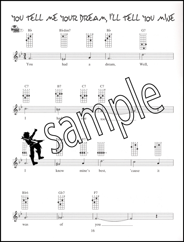 Ukulele Chord Solos In C Tuning Chord Melody Music Bookcd