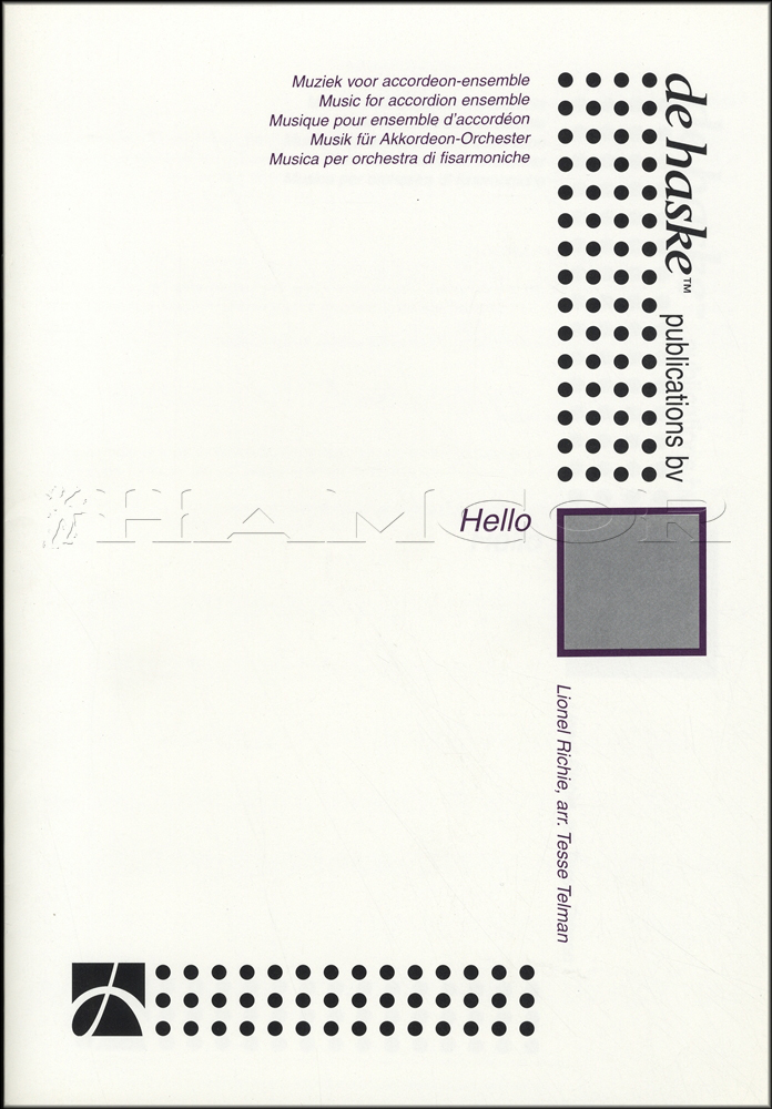 All Music Chords hello sheet music : Hello by Lionel Richie for Accordion Ensemble Score & Parts Sheet ...