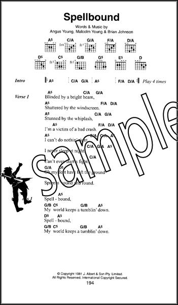 AC/DC The Little Black Songbook Guitar Chord & Lyrics Music Book 90 ...