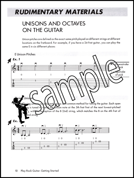Play Rock Guitar Getting Started TAB Book/DVD Power Chords Solos ...