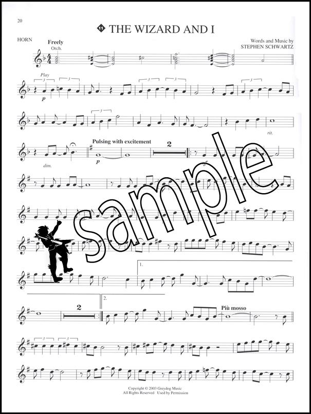 All Music Chords french horn sheet music : Wicked A New Musical F French Horn Sheet Music Book & Play-Along ...