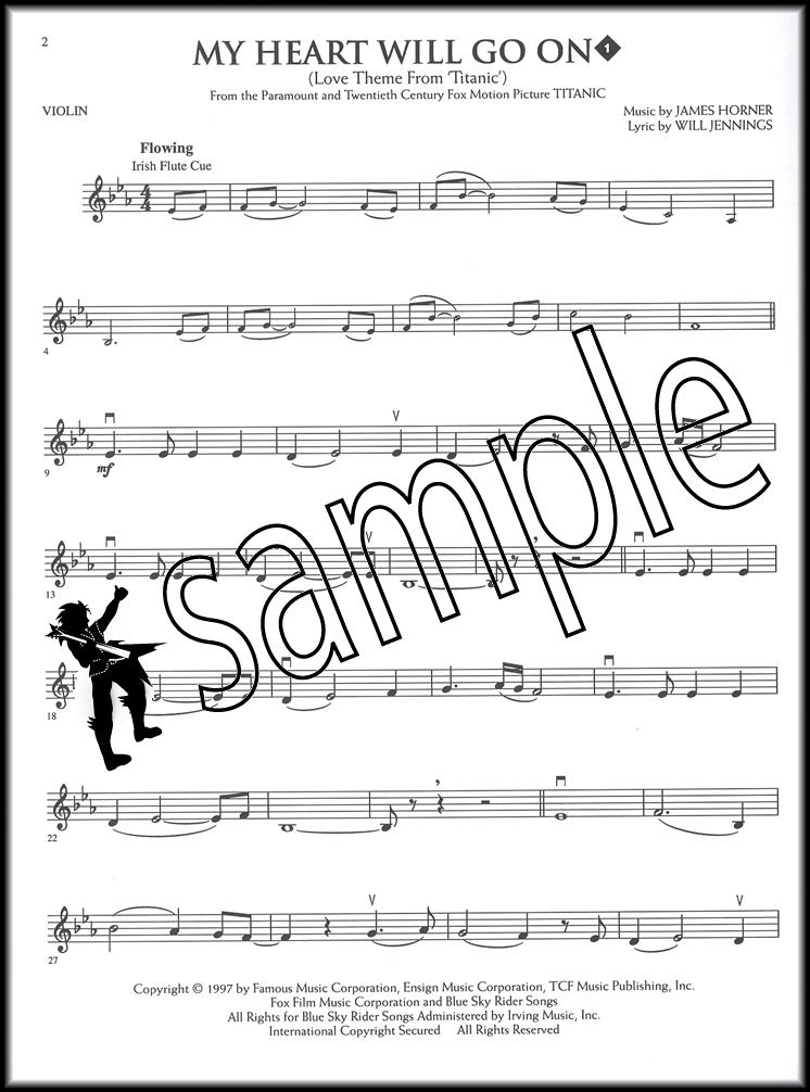 All Music Chords my heart will go on sheet music : My Heart Will Go On Playalong for Violin Book/CD | Hamcor