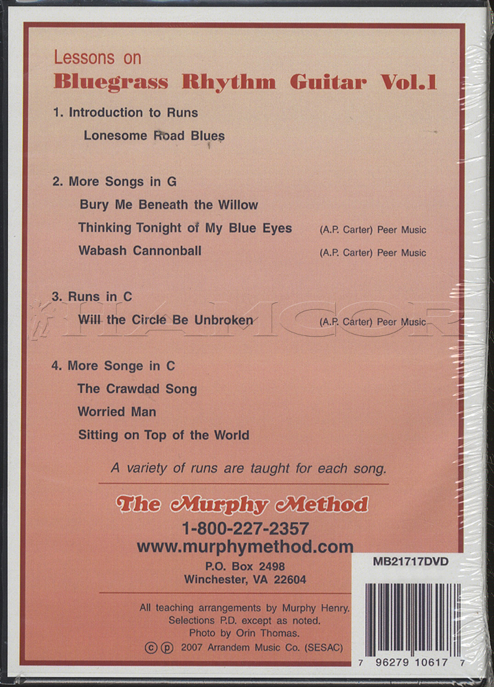 The Murphy Method Bluegrass Rhythm Guitar Dvd 1 Hamcor