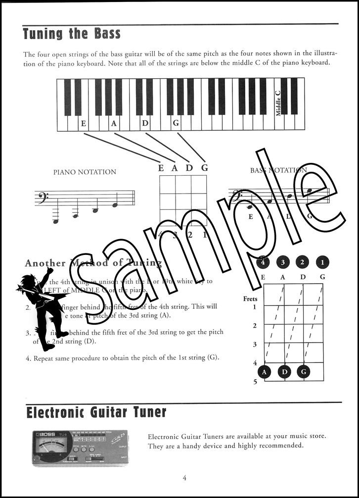 Mel Bay's Modern Electric Bass Method Grade 1 Sheet Music Book/CD ...