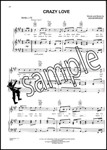 Van Morrison Moondance Piano Vocal Chords Sheet Music Book ...