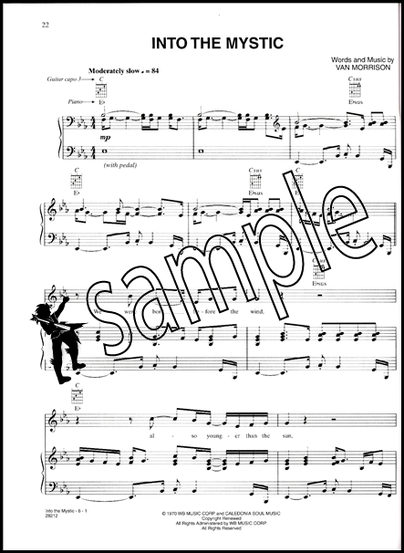 Van Morrison Moondance Piano Vocal Chords   Hamcor