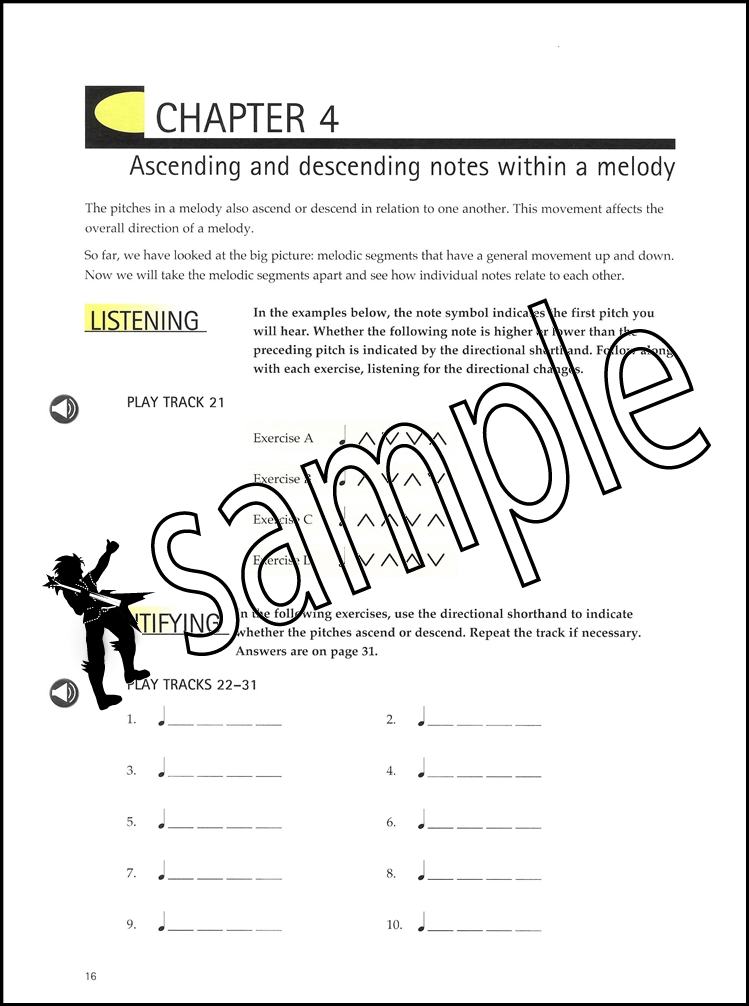 Ear Without Fear Volume 1 Ear Training Sheet Music Book With Audio