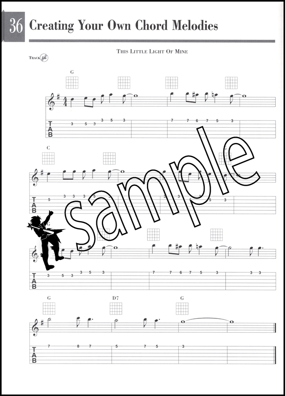 Beginning Solo Guitar TAB Music Book/CD Master the Chord Melody ...