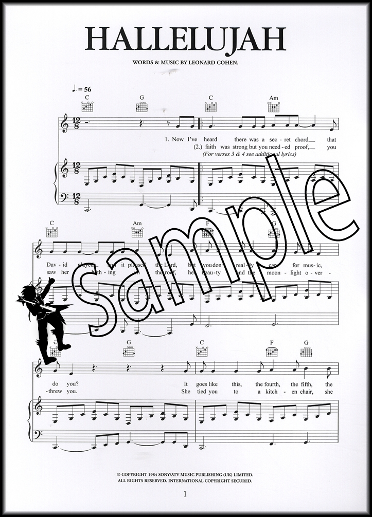 Hallelujah Piano Sheet Music | Hamcor