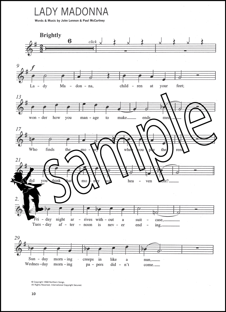 The Beatles Easy Playalong for Flute Sheet Music Book with CD ...