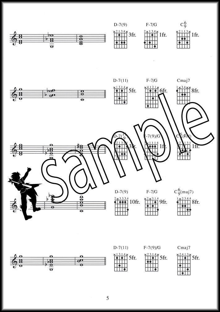 Jazz Curriculum Moveable Shapes Guitar Tab Chord Music Book Sheryl
