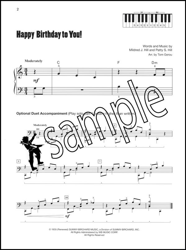 Piano happy birthday piano sheet music : Happy Birthday to You Elementary Piano Sheet Music | eBay