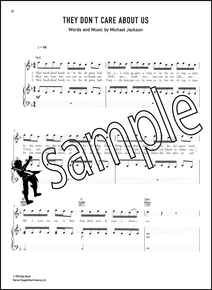 Michael Jackson 6 of The Best Piano Vocal Guitar Sheet Music Book ...