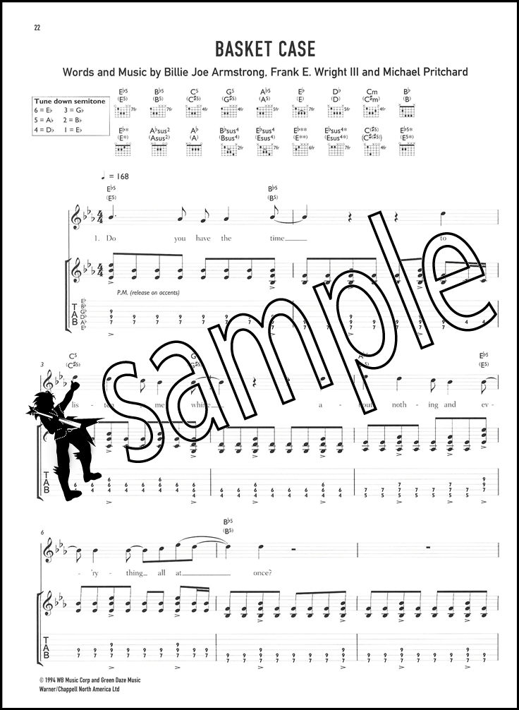 Green Day 6 Of The Best Guitar Tab Music Book American Idiot Basket