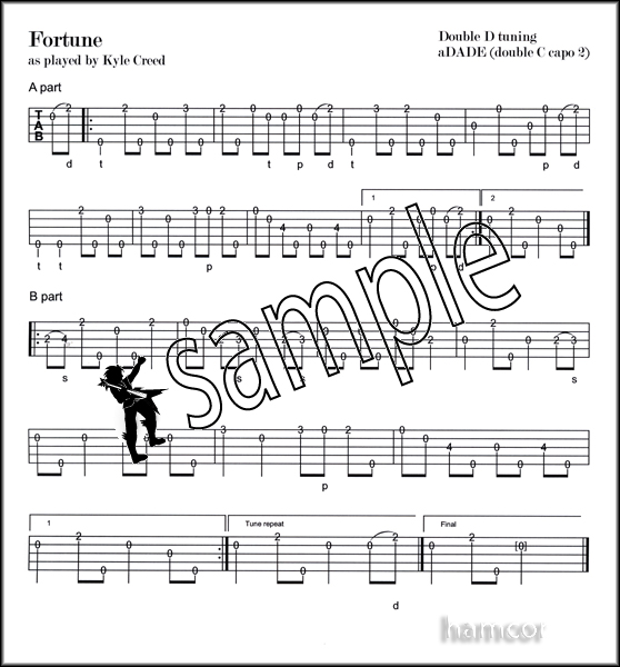 Banjo clawhammer banjo tabs : Kyle Creed Clawhammer Banjo Master TAB Book +CD