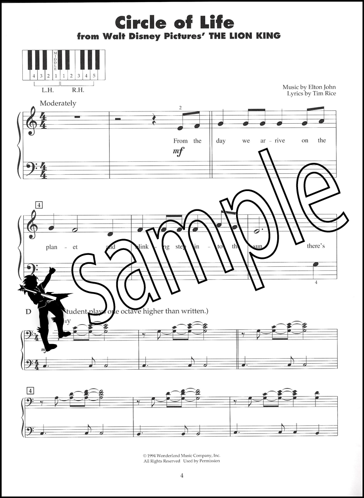 Lyric disney songs lyrics : Disney Songs 5-Finger Piano | Hamcor