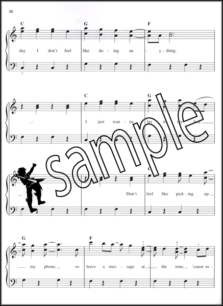 Bruno Mars Doo Wops And Hooligans Easy Piano Sheet Music Book With