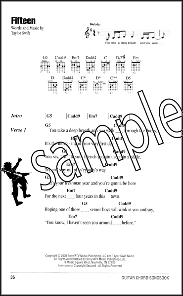 Taylor Swift Guitar Chord Songbook Hamcor