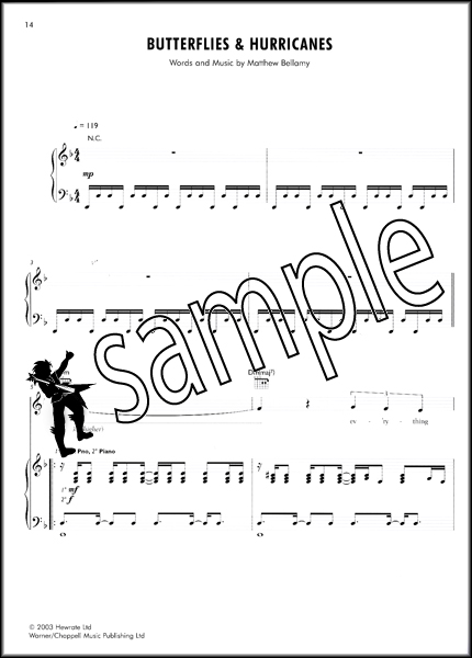 Muse The Piano Songbook Sheet Music Book 22 Song Transcriptions