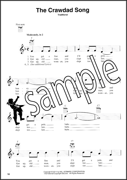 Folksongs For Ukulele 60 Songs Chord Melody Sheet Music Book