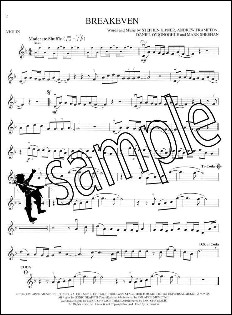 Violin free violin sheet music pop : Popular Hits Instrumental Play-Along Violin Pop Sheet Music Book ...