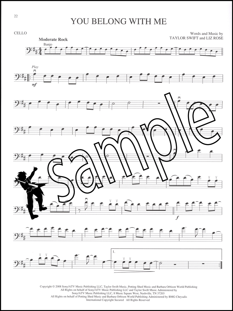 Sentinel Popular Hits Instrumental Playalong Cello Sheet Music Book With Audio Pop: Cello Sheet Music For Fireflies At Alzheimers-prions.com