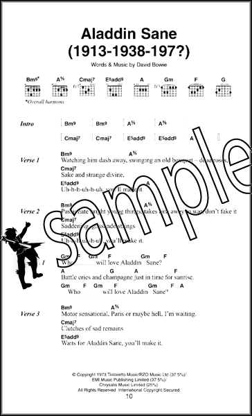 David Bowie The Little Black Songbook Guitar Chord Music Book Learn ...
