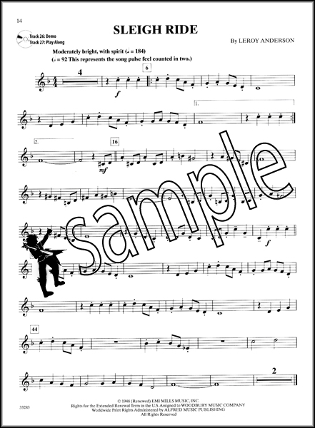 Easy Christmas Instrumental Solos Trumpet Sheet Music Book and ...